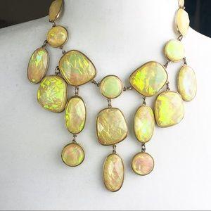 Aldo Statement Beige Jeweled Necklace